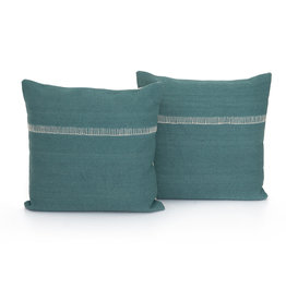 "Pillows Aqua with Stitch Accent 20"" x 20"""