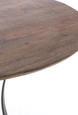 Wood & Metal Curve Base Dining Table