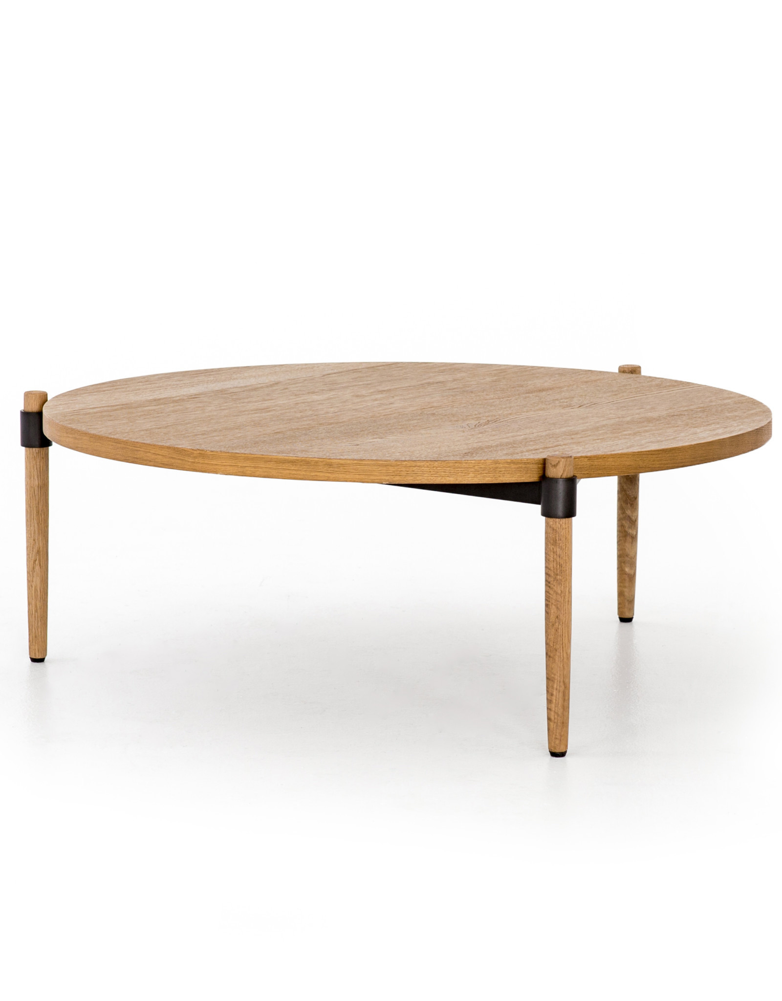 Oak & Metal Coffee Table