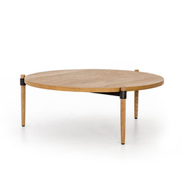 Oak & Metal Coffee Table