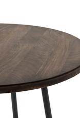 Wood & Metal Bar Table