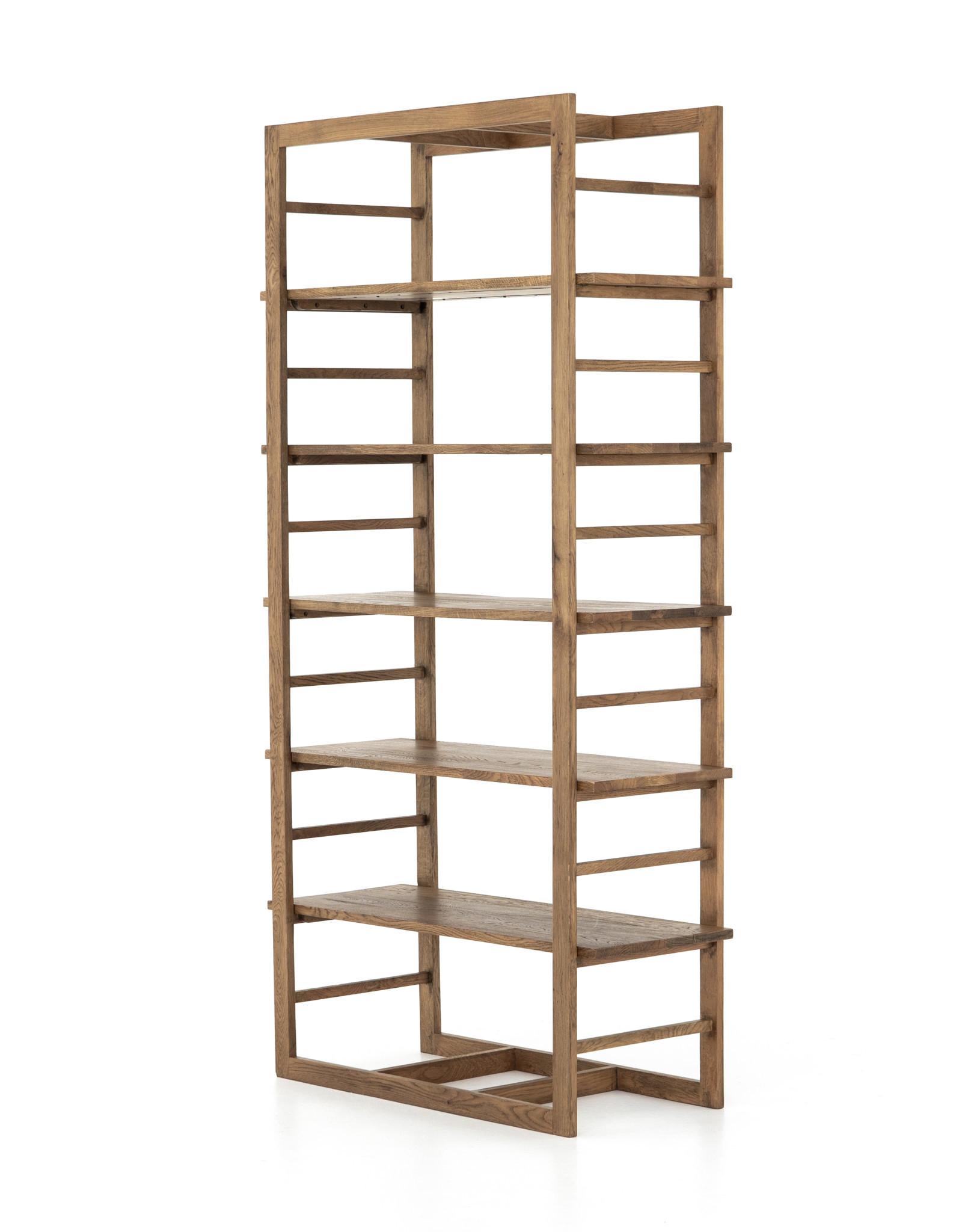 Adjustable Wood Bookshelf