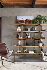 FOUR HANDS Oak & Metal Open Concept Bookshelf