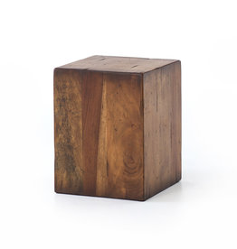 FOUR HANDS Reclaimed Wood Block End Table