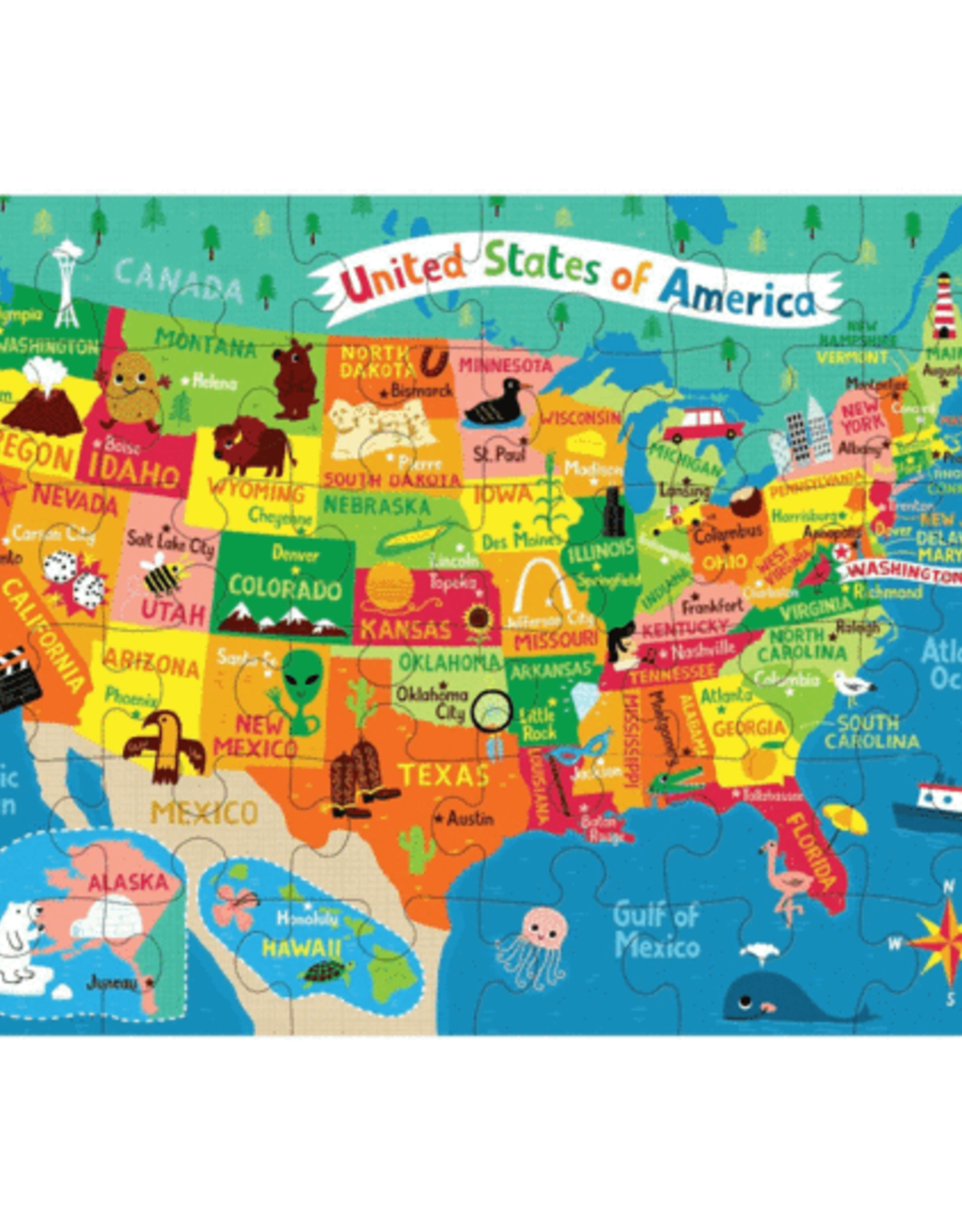 PUZZLE  TO GO MAP USA