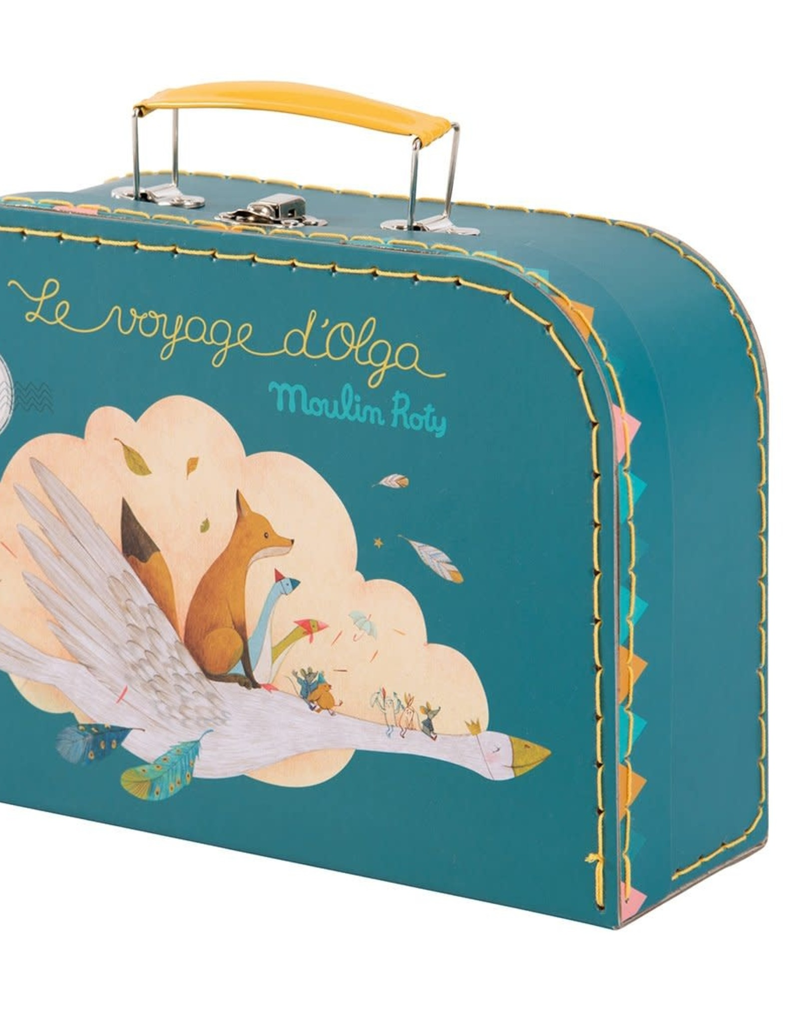 Voyage Olga Puzzle in Stitched Teal Lunchbox