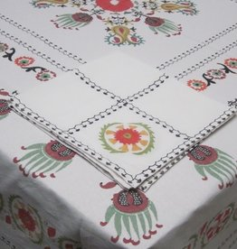 TABLECLOTH 60 X 120 EMIR WHITE MULTI