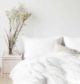 DUVET LINEN WHITE KING WITH 2 SHAMS