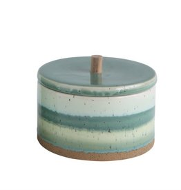 Small Stoneware Box w/ Lid