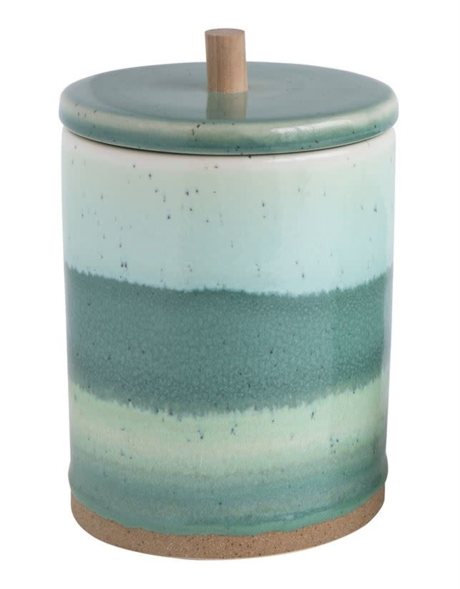 Large Stoneware Box w/ Lid