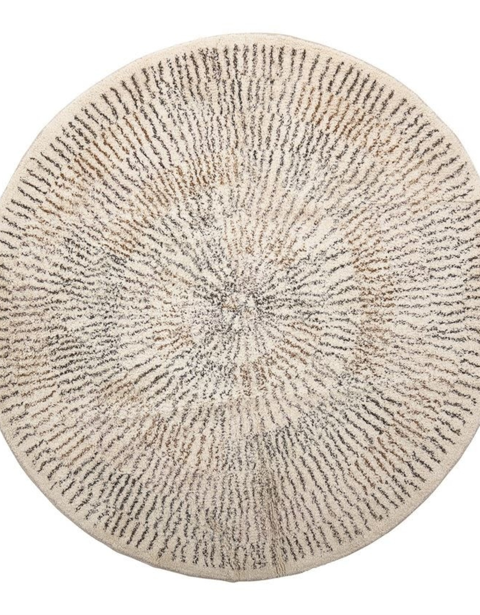 Round Multi Color Cotton Rug