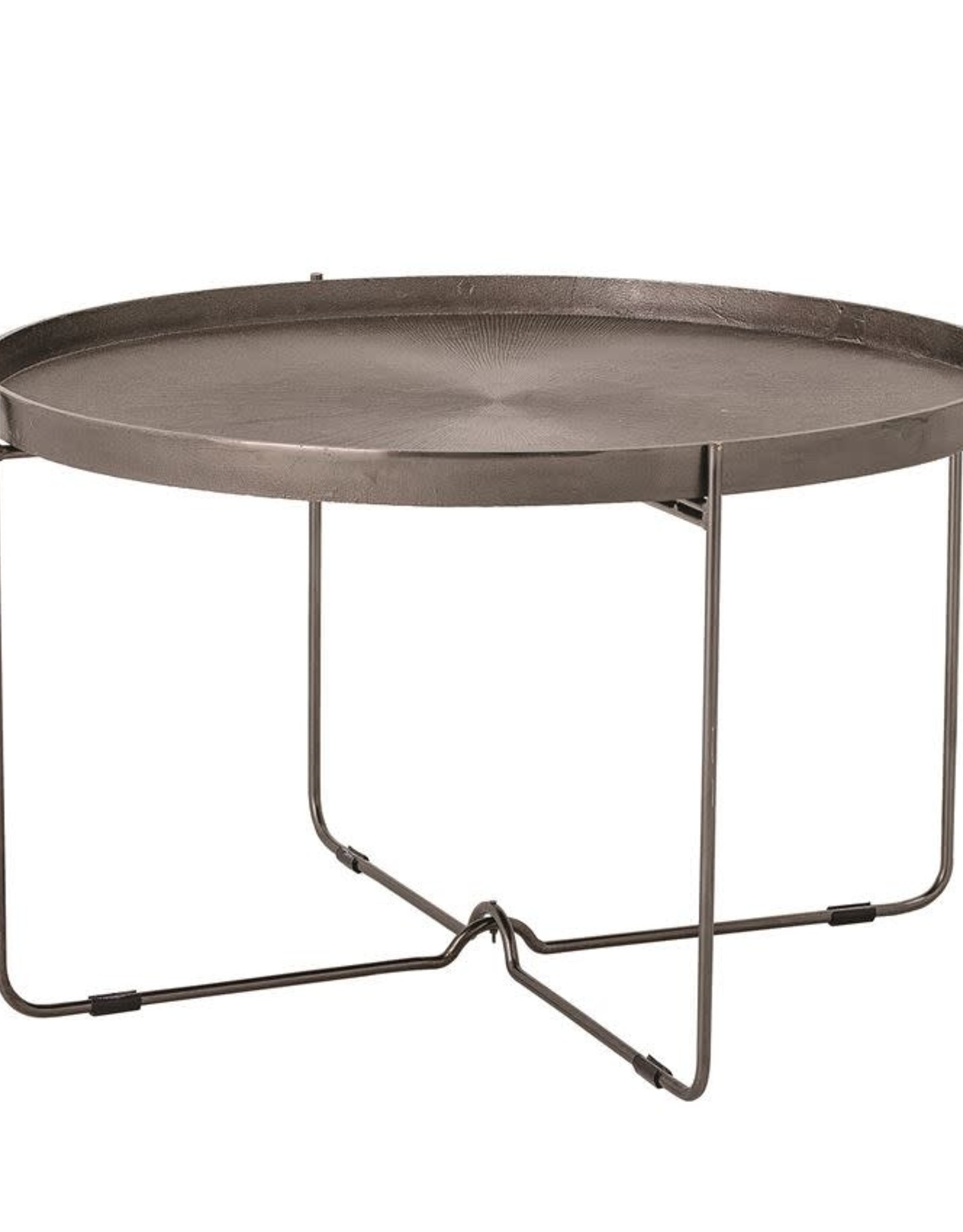 Metal Table w/ Engraved Top & Bronze Finish