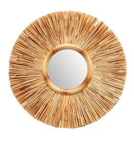 BLOOMINGVILLE Handmade Wicker Wall Mirror