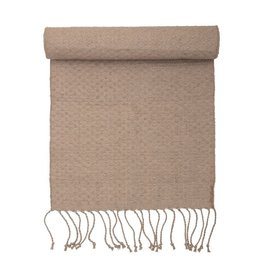 BLOOMINGVILLE Woven Jute Rug with Fringe