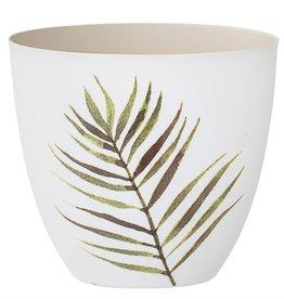 BLOOMINGVILLE Porcelain Jade Tealight with Fern