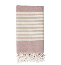 Cotton Woven Throw with Fringe