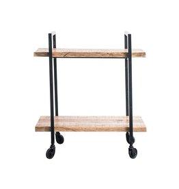 BLOOMINGVILLE Metal & Mango Wood 2 Tier Cart