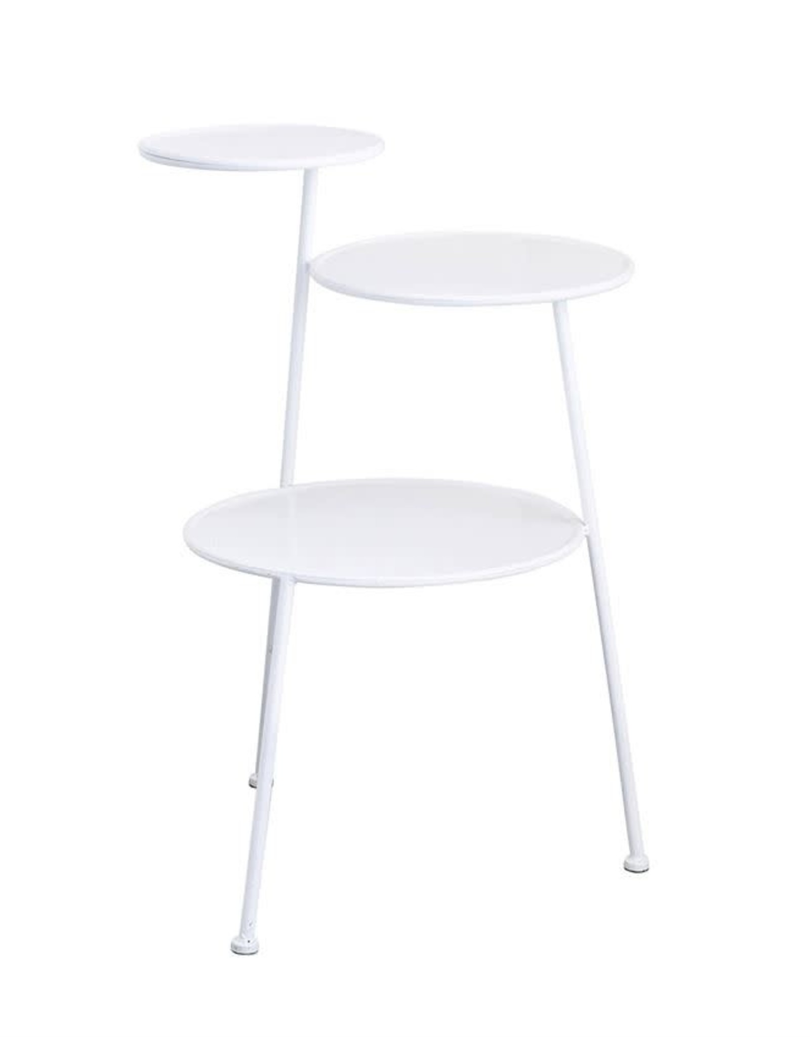 PLANT STAND 3 TIER WHITE METAL