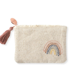 Stitched Rainbow Zip Pouch