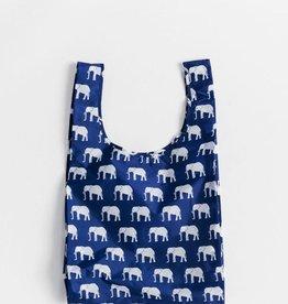 BAGGU BAG SHOPPING REUSABLE BLUE ELEPHANT