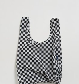 BAG SHOPPING REUSABLE BLACK CHECKERBOARD