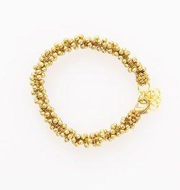 Brass Cluster Bracelet
