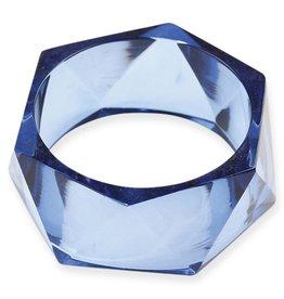 Blue Lucite Bangle