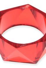 BRACELET BANGLE LUCITE RED