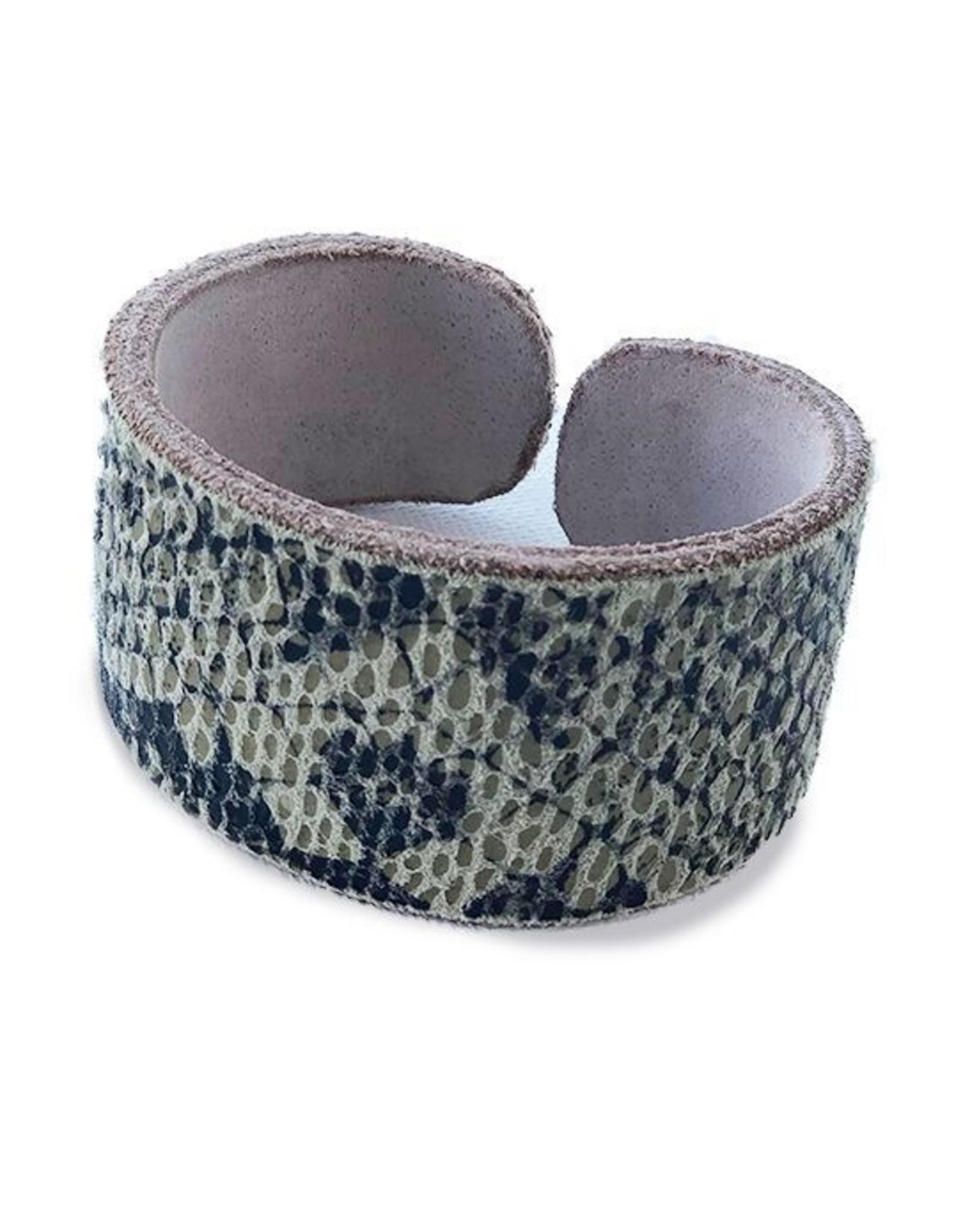 Sage Snake Cuff Bracelet