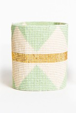 Mint and Gold Stretch Bracelet