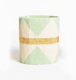 Mint and Gold Stretch Bracelet