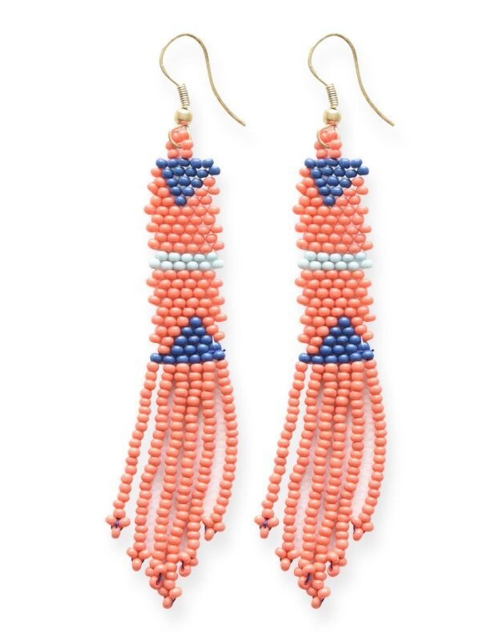 Petite Coral Fringe Earring