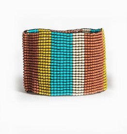 Turquoise and Terracotta Stretch Bracelet
