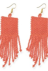 Coral Seed Bead Earring