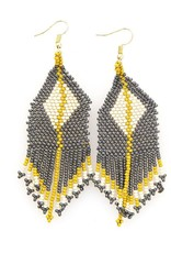Grey and Citron Diamond Fringe Earring