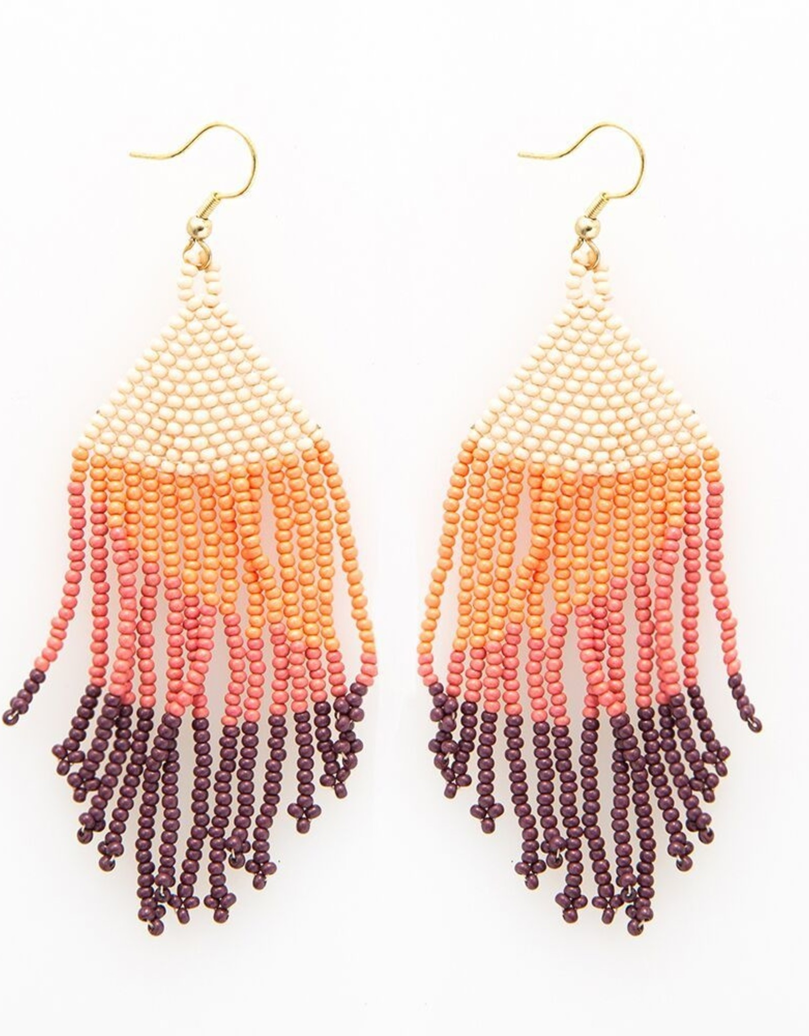 Ombre Pink Fringe Earring