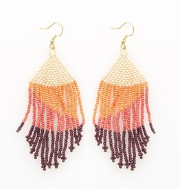 EARRING PINK OMBRE FRINGE