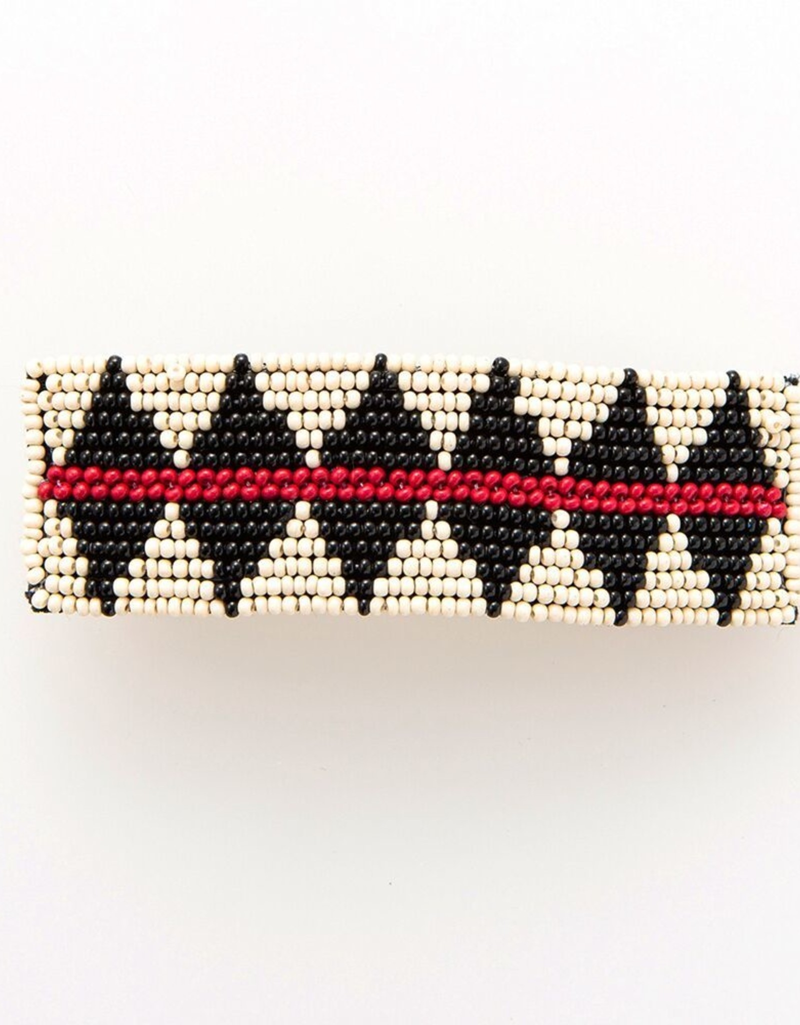 Ivory, Red, and Black Diamond Barratte