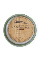 CONTAINER CANDLE GREAT SMOKEY MOUNTAINS MAPLEWOOD AND MOSS 11 OZ