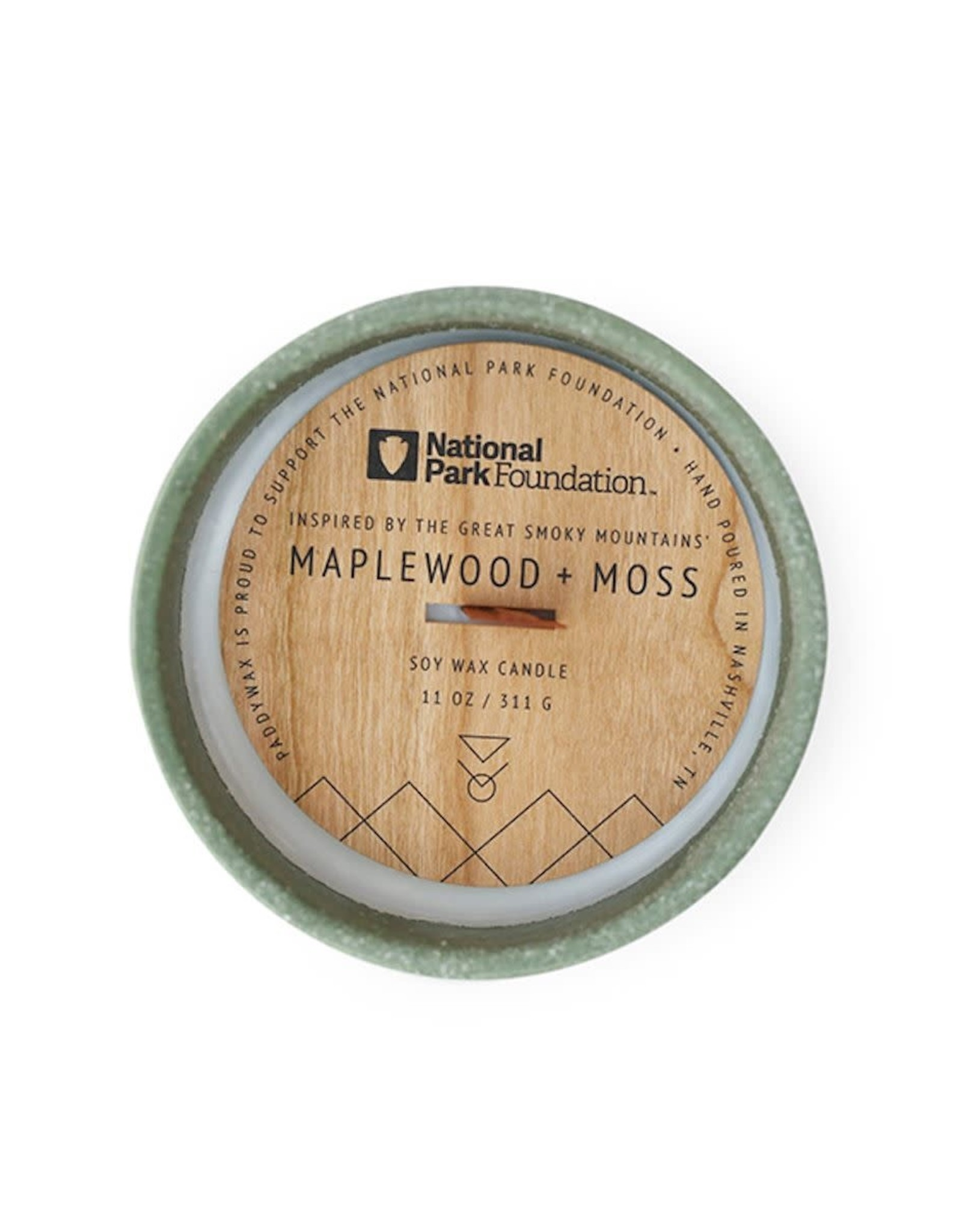 PADDYWAX CONTAINER CANDLE GREAT SMOKEY MOUNTAINS MAPLEWOOD AND MOSS 11 OZ