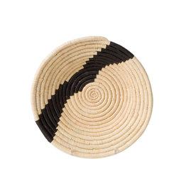 Medium Black and Natural Striped Bowl