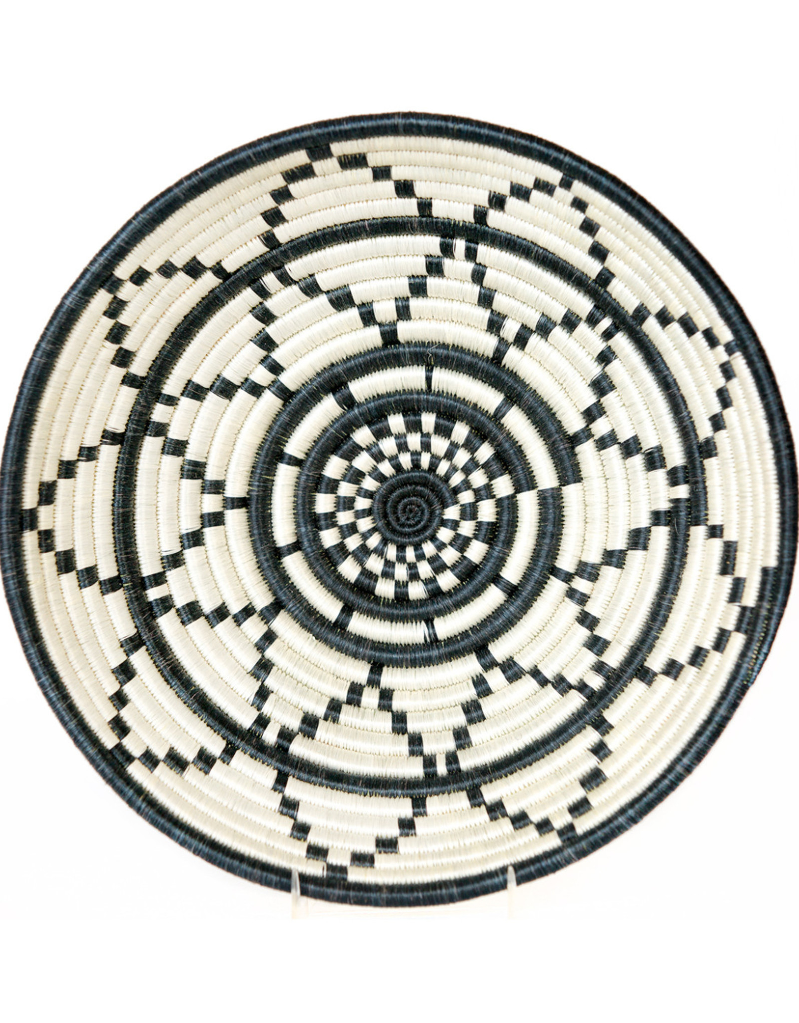 Large Black and White Thousand Hills Bowl