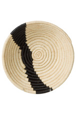 BASKET BOWL SMALL BLACK AND NATURAL STRIPED
