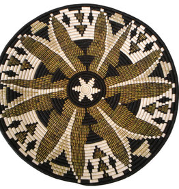Black Fleur Basket Plate