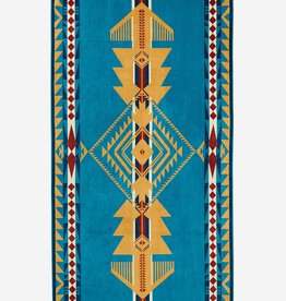 PENDLETON Eagle Gift Turquoise Oversized Towel