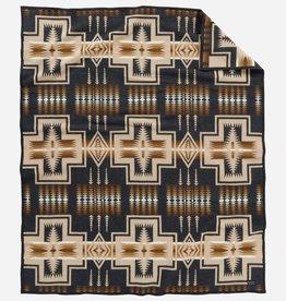 PENDLETON Harding Thyme Jacquard Wool Robe Blanket