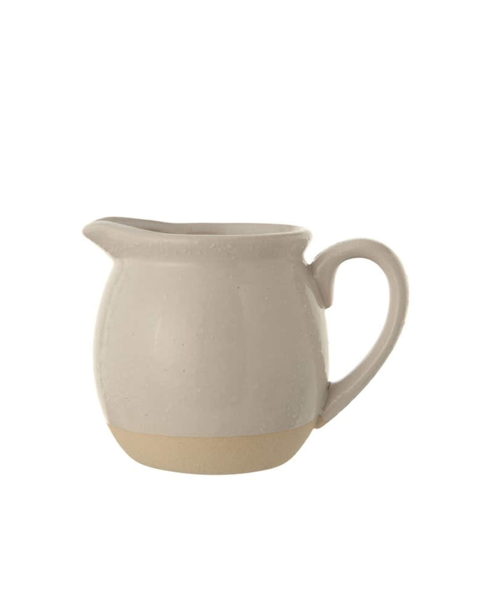 White Glaze Dipped Pitcher