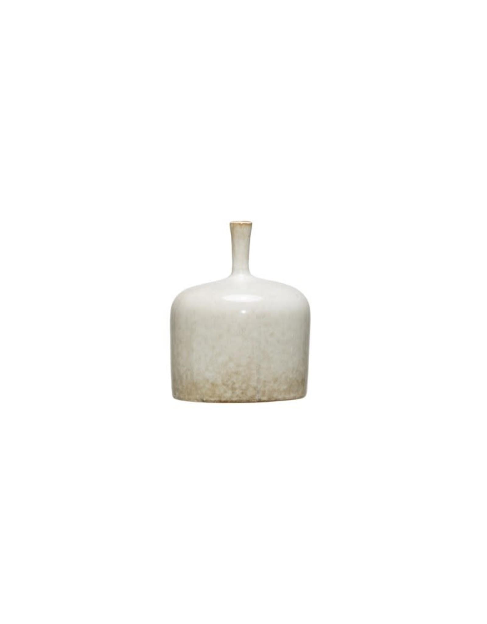 Small Narrow Necked White Vase