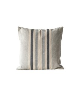 Grey and Off White Cotton Pillow