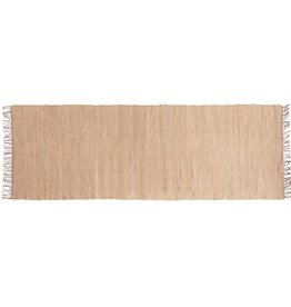 TABLECLOTH BLUSH JUTE CHENILLE WITH FRINGE RUNNER 2.5X8